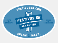 Fesitivus 5K 2-color sticker