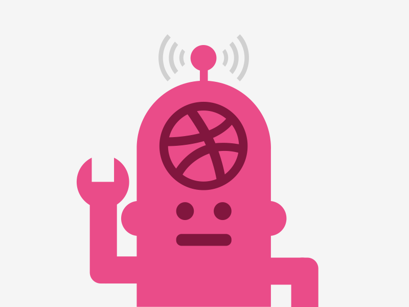 Dribbbot by Dan Cederholm for Dribbble on Dribbble