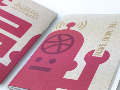 Dribbbot Scout Book print scoutbook notebook dribbble dribbbot