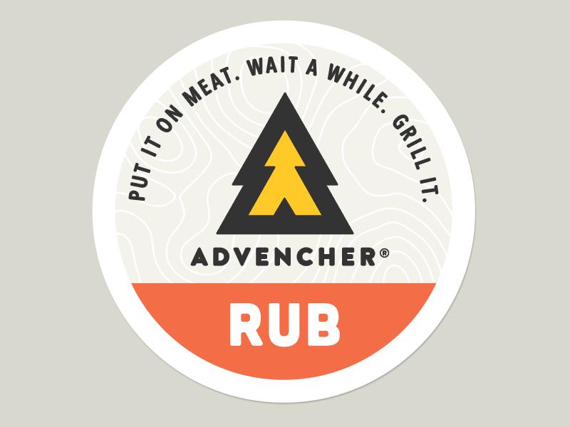 Advencher® Rub Sticker advencher avenir brandon cubano logo brand rub sticker