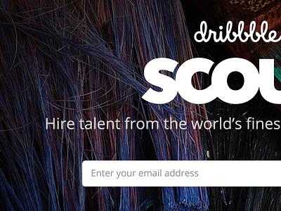 Scout comingsoon tease opensans logo hiring dribbble scout