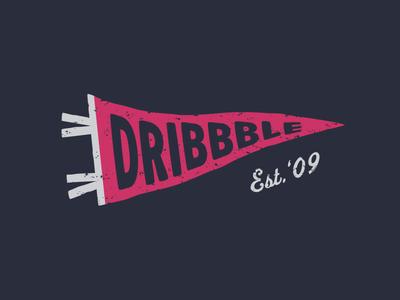 Pennantee pennant dribbble vector art shirt