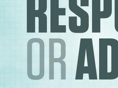 RESP OR AD keynote slide presentation blue tungsten type