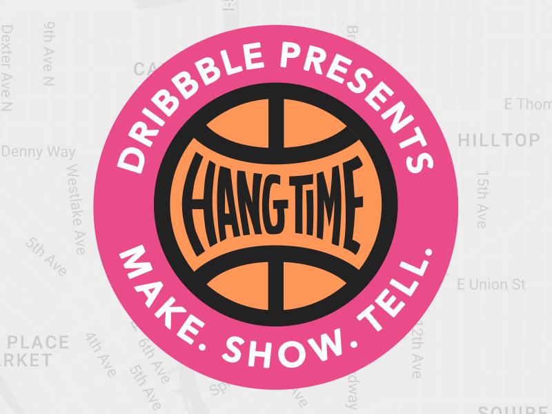 Hang Time logo event dribbble hangtime