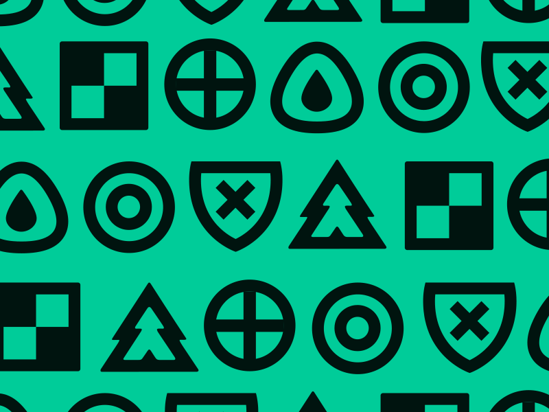 Patterning vector icons pattern advencher