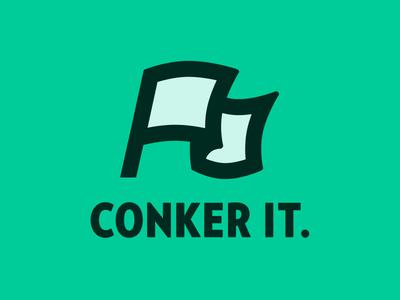Conker it.