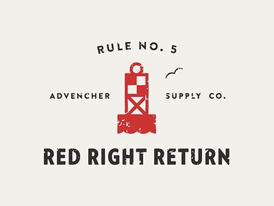 Red Right Return vector brandontext verlag buoy advencher