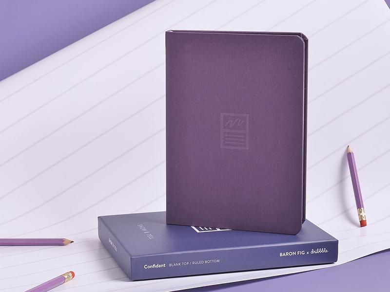 Baron Fig × Dribbble dribbble baronfig collaboration notebook