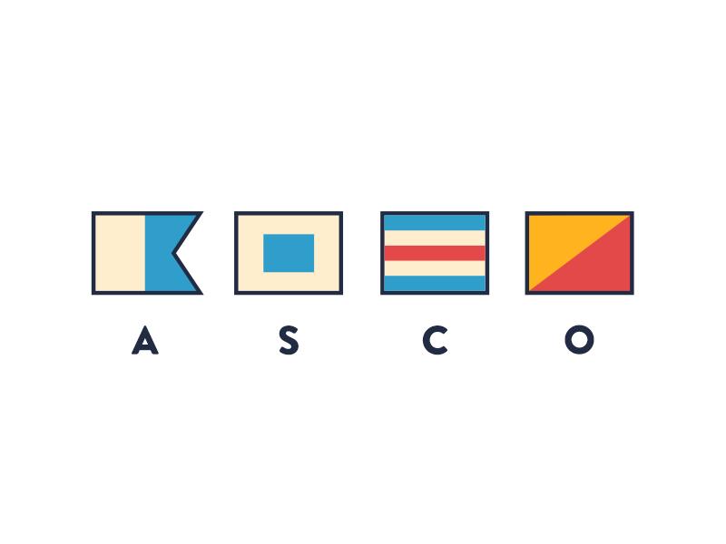 ASCO flags nautical brandontext vector advencher
