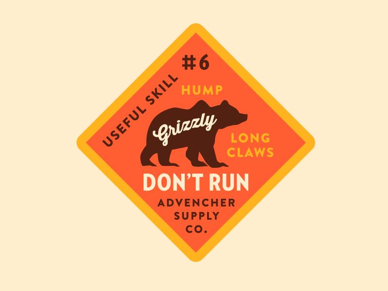 Don't Run grizzly vector brandontext verlagcondensed skills advencher