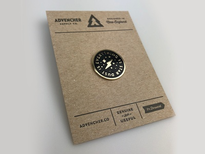 Pinning card gold pin enamel advencher