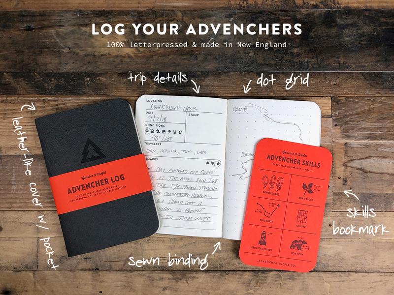 Log Your Advenchers letterpress notebook brandon text advencher