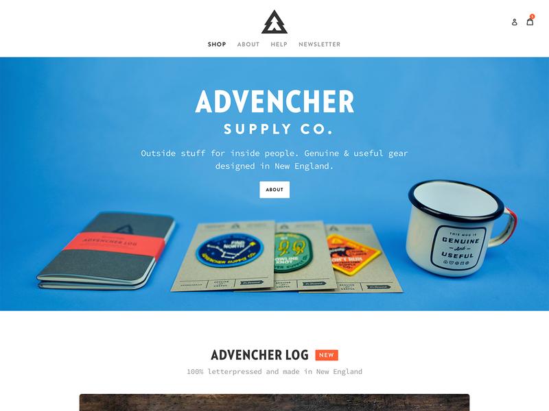 Advencher Launch! ui shopify advencher