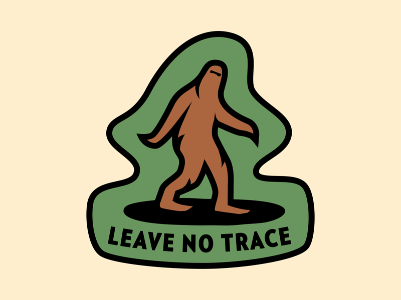 Leave No Trace Pin verlagcondensed bigfoot enamelpin illustration advencher vector