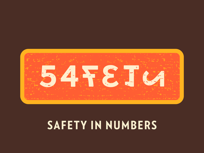Safety In Numbers verlagcondensed illustration vector advencher