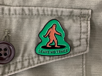 Leave No Trace Pin enamelpin pin illustration advencher