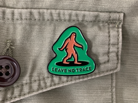 Leave No Trace Pin enamelpin pin illustration advencher