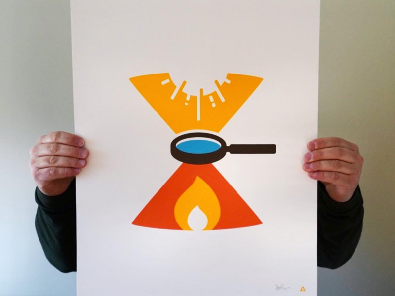 Magnifire! screenprint print