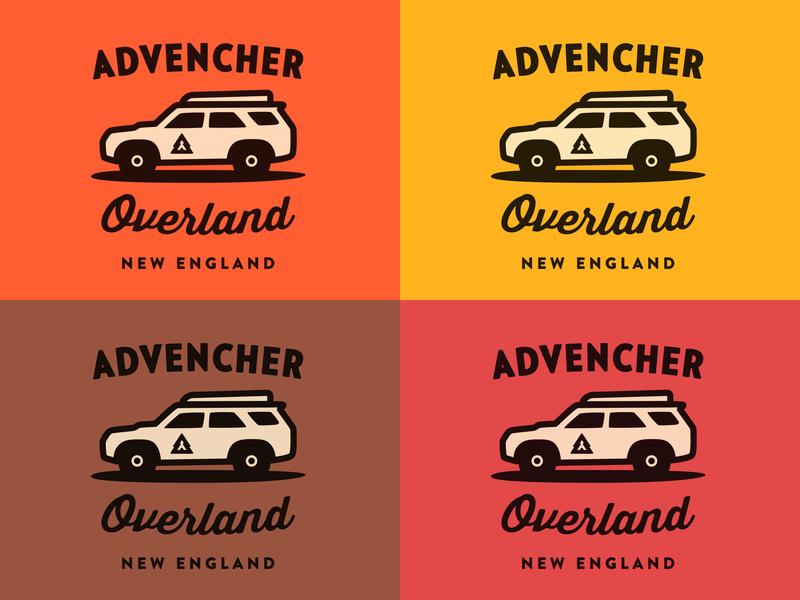 Advencher Overland overland 4runner logo branding vector advencher