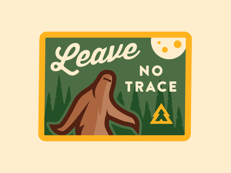 Leave No Trace Patch brandontext thirsty vector yeti patch advencher