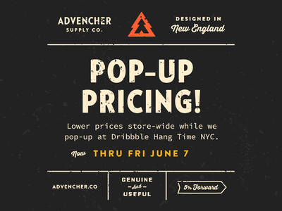 Pop-Up Pricing!