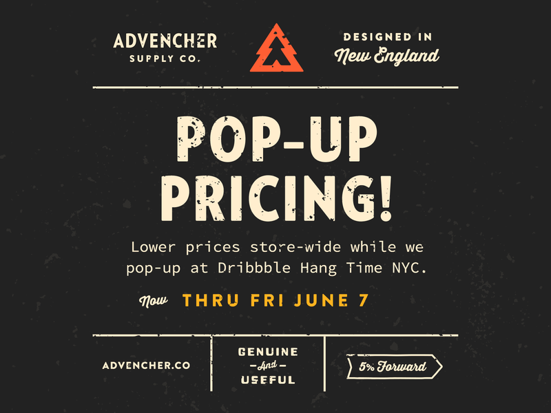 Pop-Up Pricing! thirstysoft sourcecodepro brandontext verlagcondensed advencher