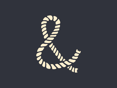 And The Sea adobecapture procreate ampersand nautical rope advencher vector