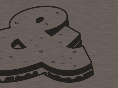 One color on tri-blend coffee ampersandwich shirt design brown triblend