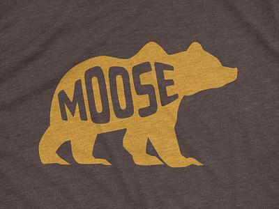 Moose bear moose illustration advencher vector