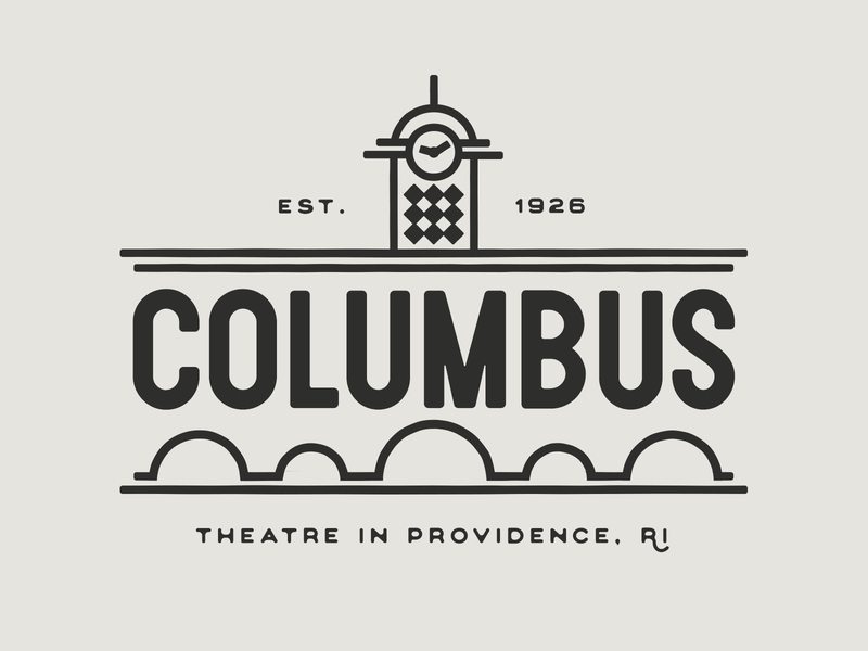 Columbus Theatre tshirt illustration branding vector simplebits