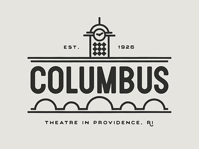 Columbus Theatre tshirt illustration branding vector simplebits