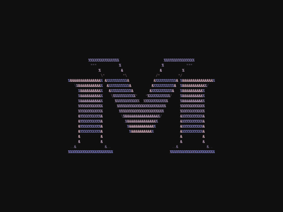 36days 2020 — M type design type lettering letter font 36daysoftype07 36daysoftype