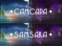 "Russian Interpretation of the ""Samsara"" Game Logo"
