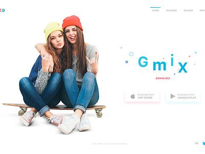 Gmix Web Site / Download social app design website people summer love travel friend responsive download