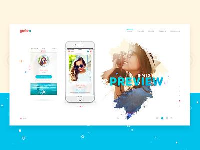 Gmix Web Site / Preview preview responsive friend travel love summer people website design app social