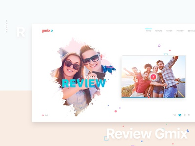 Gmix Web Site / Review social app design website people summer love travel friend responsive preview