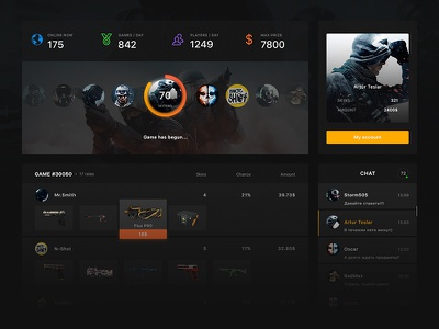 Ghost CSGO players. skins roulette game site csgo