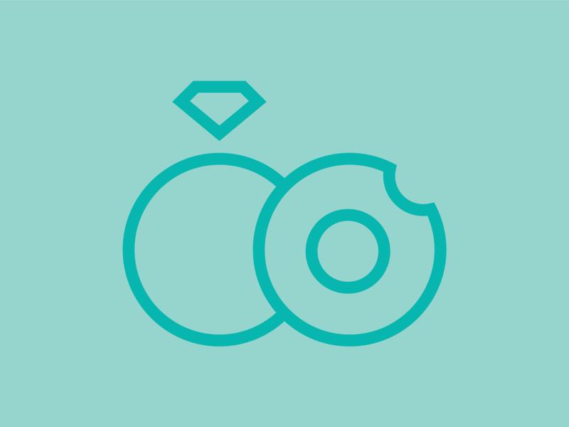 Wedding Logo doughnuts icon logo design logo wedding