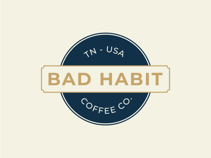 Bad Habit Logo badge design badge logo coffee logo coffee branding logo design logo