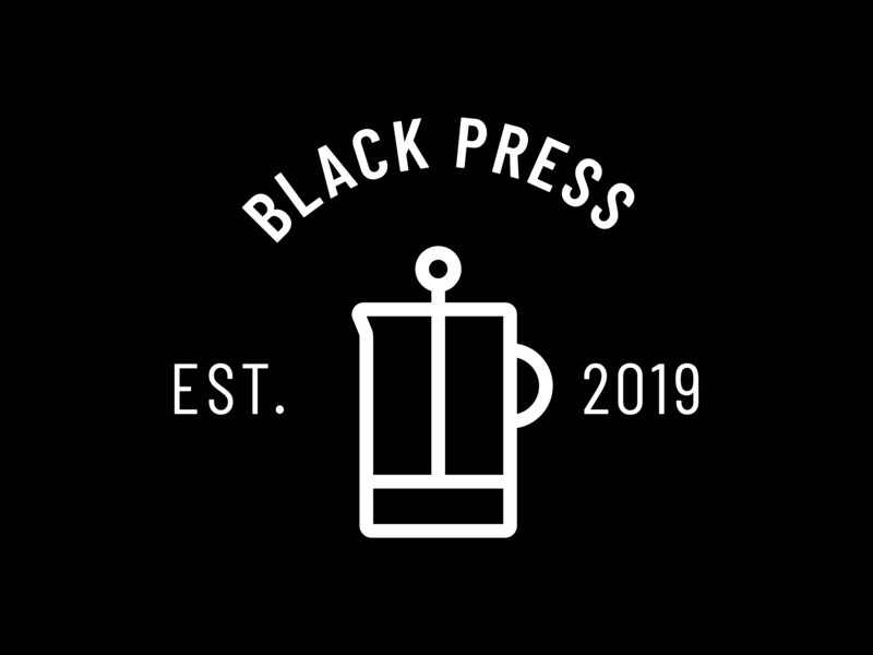 Black Press Logo coffee branding icon logo design logo
