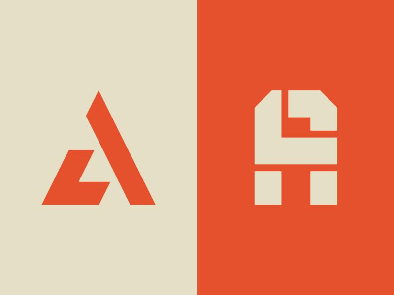 A + L Monograms logo design logo monogram