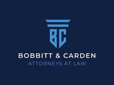Bobbitt & Carden Attorneys at Law Logo attorneys lawyer branding logo design logo