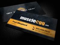 Muscle Egg Business Cards
