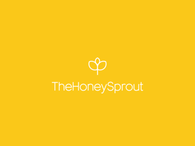 TheHoneySprout feedback sprout brand meal preps meal prep logo yellows honey honeysprout branding logo