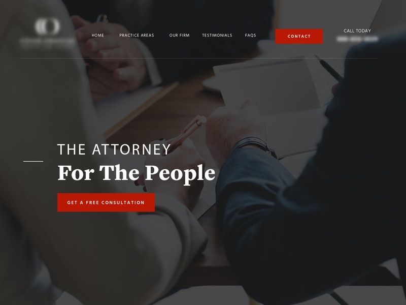 Lawyer Homepage ux design ux hero home web attorney lawyer law