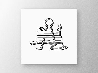 Wood masters texture wood design illustration logo