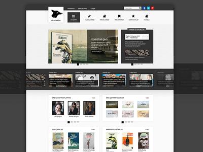 Alakarga Kurumsal Web Sitesi ux wordpress photoshop book app company