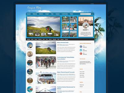 Blog Teması Wordpress ui ux theme design photoshop wordpress