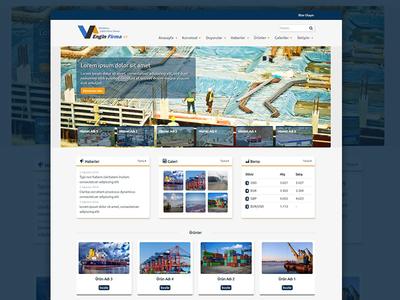 Firma Teması Wordpress design ux theme wordpress photoshop