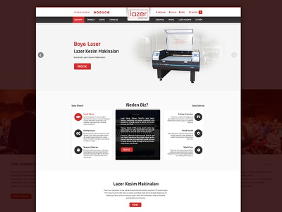 Lazerhome Eticaret company ecommerce ux design theme wordpress photoshop